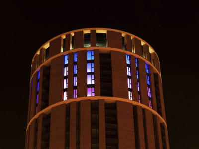 Candle House   20 Storey Light Installation
