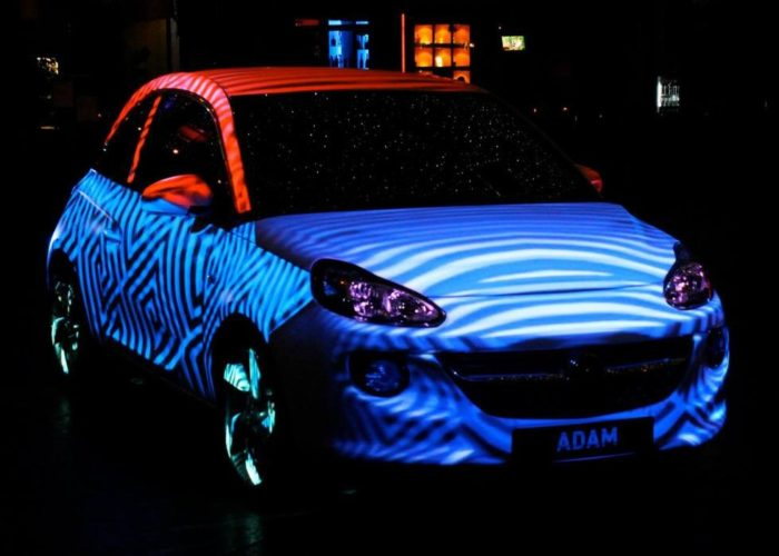 Vauxhall Adam 360º Car 4D Projection Mapping